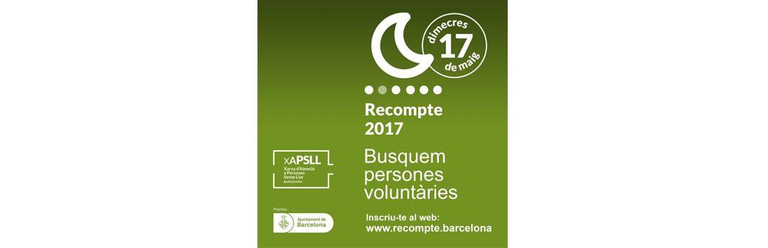 Inscripciones abiertas para participar como voluntario/a en el Recuento 2017