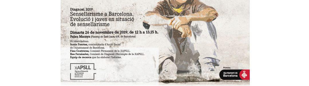 """La XAPSLL presenta l'informe sobre """"Sensellarisme a Barcelona i joves"""""""